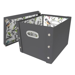 Snap-N-Store™ Select Storage Box, Medium Size, 50% Recycled, Cool Gray/Sparrow
