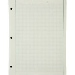 """Ampad® Green Tint Engineer's Quadrille Pad, 8 1/2"""" x 11"""", Quadrille Ruled, 200 Sheets, Green"""