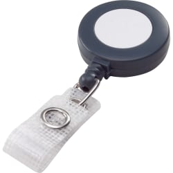 Swingline® GBC® Retractable Badge Reel - Plastic, Nylon - 25 / Box - Gray