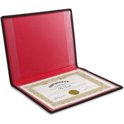 "Anglers Certificate Holder - 12"" x 9"" - 2 Internal Pocket(s) - Polypropylene - Black - 1 Each"