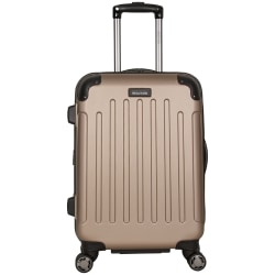 """Kenneth Cole Reaction R-Tech Expandable Rolling Carry-On, 23 1/2""""H x 17""""W x 12""""D, Rose Gold"""