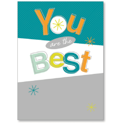"""Viabella Thank You Greeting Card, You Are The Best, 5"""" x 7"""", Multicolor"""
