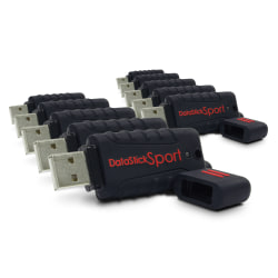 Centon DataStick Pro USB 2.0 Flash Drives, 8GB, Sport Black, Pack Of 10 Flash Drives, DSW8GB10PK