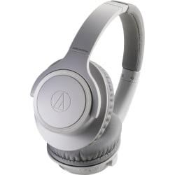 Audio-Technica ATH-SR30BT Wireless Over-Ear Headphones - Stereo - Wireless - Bluetooth - 32.8 ft - 32 Ohm - 5 Hz - 35 kHz - Over-the-head - Binaural - Circumaural - Omni-directional, Condenser Microphone - Natural Gray