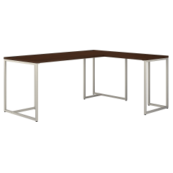 "kathy ireland® Office by Bush Business Furniture Method 72""W L-Shaped Desk With 30""W Return, Century Walnut, Standard Delivery"