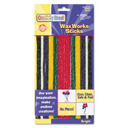 "Creativity Street Wax Works Sticks, 8"", Bright Hues, Pack Of 48"