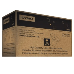 """DYMO® 1785378 High-Capacity White Labels, 2.31"""" x 4"""", Pack of 1,100"""