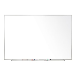 "Ghent Magnetic Porcelain Whiteboard, 24"" x 36"", Silver Aluminum Frame"