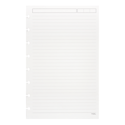 TUL® Discbound Refill Pages, Junior Size, Narrow Ruled, 100 Pages (50 Sheets), White