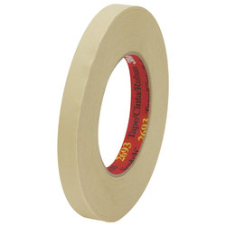 "3M™ 2693 Masking Tape, 3"" Core, 0.5"" x 180', Tan, Pack Of 72"