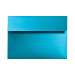 """LUX Invitation Envelopes With Moisture Closure, A7, 5 1/4"""" x 7 1/4"""", Trendy Teal, Pack Of 50"""