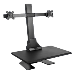 """Mount-It! MI-7952 Electric Standing Desk Converter With Dual-Monitor Mount, 23""""H x 35""""W x 8-1/4""""D, Black"""