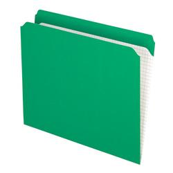 Pendaflex® Reinforced-Top File Folders, Straight Cut Tab, Letter Size, Bright Green, Box Of 100 Folders