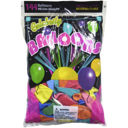 """Tablemate Assorted Latex Balloons, 12"""", Assorted, Pack of 144"""