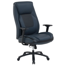 Shaquille O'Neal™ Nereus Bonded Leather High-Back XXL Executive Chair, Blue