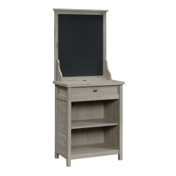 """Sauder® Cottage Road Entryway Table With USB Ports And Chalkboard, 68""""H x 27-5/8""""W x 17-3/4""""D, Mystic Oak"""