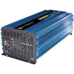 Power Bright 12V DC to AC 3500 Watt Power Inverter - Input Voltage: 12 V DC - Output Voltage: 117 V AC, 120 V AC - Continuous Power: 3500 W