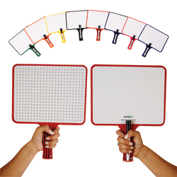 KleenSlate® Rectangular Dry Erase Whiteboard, Blank/Graph, Set of 32