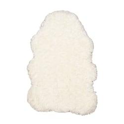 "Linon Minslow Faux Lamb Skin Area Rug, 42""H x 66""W, Ivory"