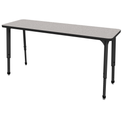 "Marco Group Apex™ Series Adjustable Rectangle Student Desk, 20"" x 60"", Gray Nebula/Black"