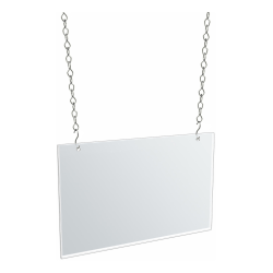 "Azar Displays Hanging Acrylic Poster Frames, 8-1/2""H x 14""W x 1/4""D, Clear, Pack Of 4 Frames"
