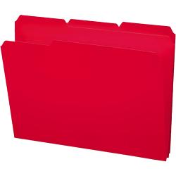 Smead® Inn Dura File Folders, Letter Size, 1/3 Cut, Red, Box Of 24