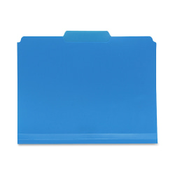 Smead® Inn Dura File Folders, Letter Size, 1/3 Cut, Blue, Box Of 24