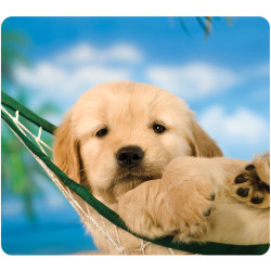 """Fellowes Recycled Optical Mouse Pad - Puppy - 8"""" x 9"""" x 0.06"""" Dimension - Multicolor - Rubber Base - Skid Proof"""