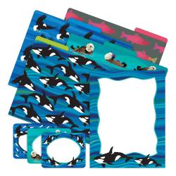 Barker Creek Get Organized Kit, Letter Size, Sea & Sky Whales