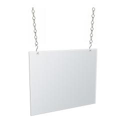 "Azar Displays Horizontal Hanging Poster Frames, 11"" x 14"", Clear, Pack Of 4 Frames"