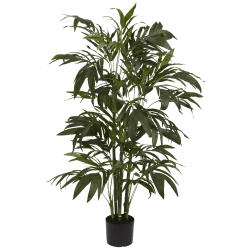 Nearly Natural 4'H Silk Bamboo Palm Tree With Pot