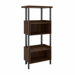 "Bush Furniture Architect 66""H 4-Shelf Bookcase, Modern Walnut, Standard Delivery"