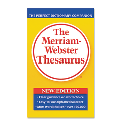 Merriam-Webster Paperback Thesaurus Dictionary Printed Book - English - Book - 800 Pages