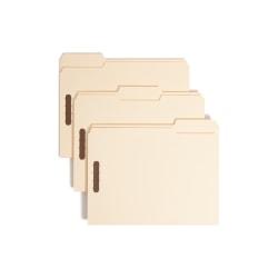 Smead® Heavyweight Manila Fastener Folders, Letter Size, Pack Of 50