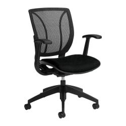 Global® Roma® Fabric Mid-Back Task Chair, Black
