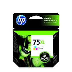 HP 75XL High-Yield Tricolor Ink Cartridge (CB338WN)