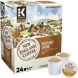 New England Coffee K-Cups, Medium Roast, Hazelnut Creme, Box Of 24 K-Cups