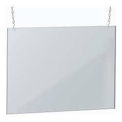 "Azar Displays Hanging Poster Frame, 18"" x 24"", Clear"
