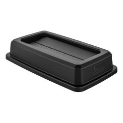 """Suncast Commercial Double-Flip Lid For Narrow Trash Cans, 3-13/16""""H x 11-13/16""""W x 20""""D, Black"""