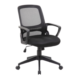 Boss Office Products Mesh Task Chair, Black