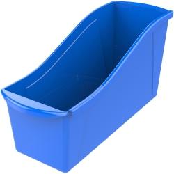 """Storex Book Bin Set - 7"""" Height x 5.3"""" Width14.3"""" Length - Blue - Plastic - 6 / Carton"""