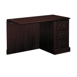 HON® 94000-Series Right Return For Left-Pedestal Desk, Mahogany
