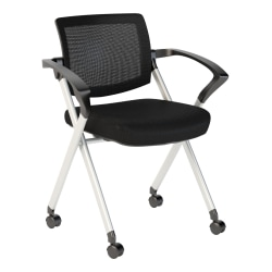 Bush Business Furniture Corporate Mesh Back Folding Office Chair, Black, Standard Delivery