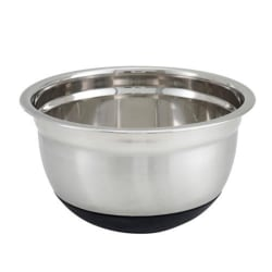Winco Stainless Steel Mixing Bowl With Silicone Base, 3 Qt