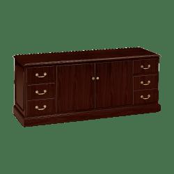 HON® 94000 Series™ Credenza With Doors, Mahogany