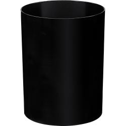 CEP Ice Black Round Wastebasket, 4.2 Gallons, Black
