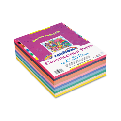 """Pacon® Rainbow Super Value Construction Paper, 9"""" x 12"""", Assorted Colors, Pack Of 500"""