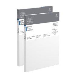 """Winsor & Newton Professional Cotton-Stretched Traditional Canvases, 11"""" x 14"""", White, Pack Of 2"""