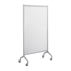 "Safco® Rumba™ Screen Dry-Erase Whiteboard, 66"" x 36"", Aluminum Frame With Silver Finish"