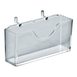 """Azar Displays Horizontal Business Card Holders, 4""""H x 4-1/8""""W x 7/8""""D, Clear, Pack Of 10 Holders"""